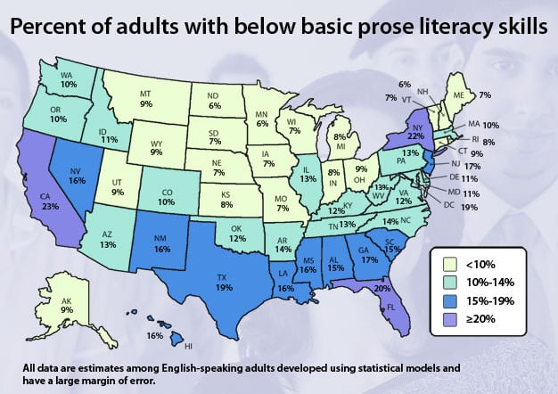 External Links Project Read - Literacy map us